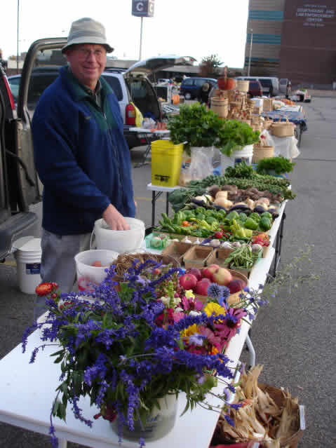 Jerry at the Farmers Market